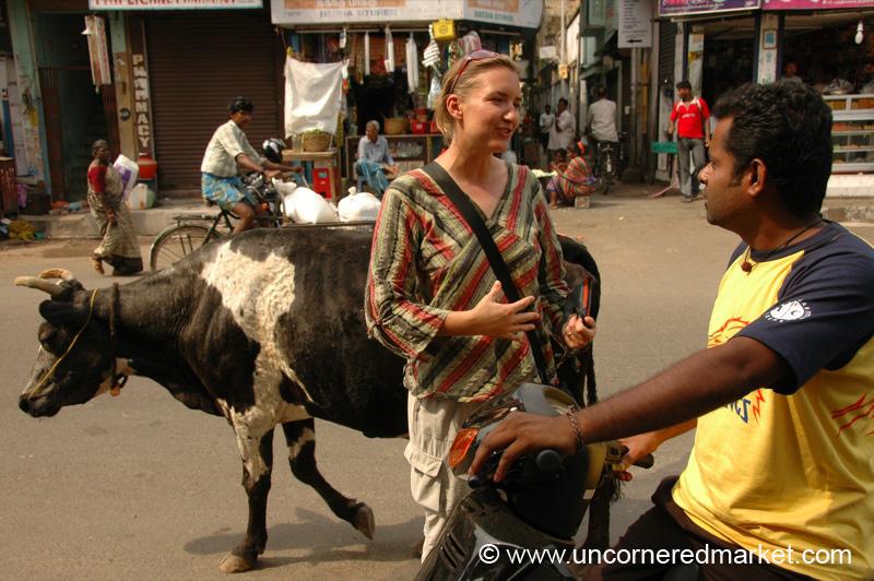 Conversing on the Street - Chennai, India