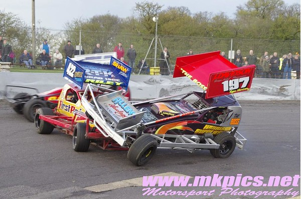 BriSAC F1 Stockcars, Northampton 23 April 2016