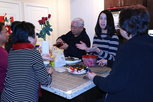 Boxing Day Dinner at Tess' Condo