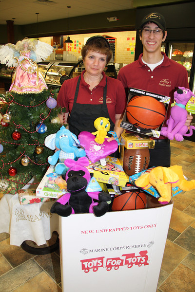 Toys For Tots Donation, Nancy's Meats, Hometown (12-20-2011)