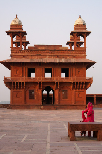 Woman in Red, Fatehpur Sikri
