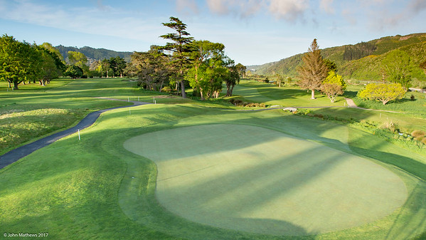 Photo of the 7th hole at  Royal Wellington Golf Club immediately prior to the hosting of the Asia-Pacific Amateur Championship tournament 2017 held in Heretaunga, Upper Hutt, New Zealand in late October 2017. Copyright John Mathews 2017.   www.megasportmedia.co.nz