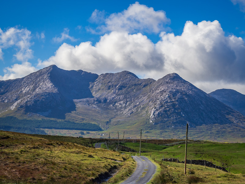 Towards the Twelve Bens from the Inagh Valley