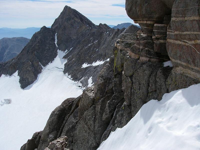 Mount Sill (4.314 m = 14,153 ft) on horizon