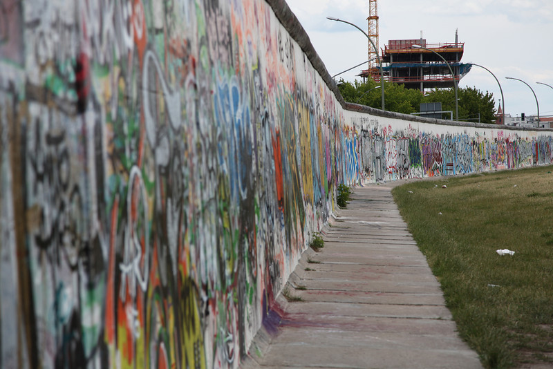 The longest stretch of the Berlin Wall: East Side Gallery.
