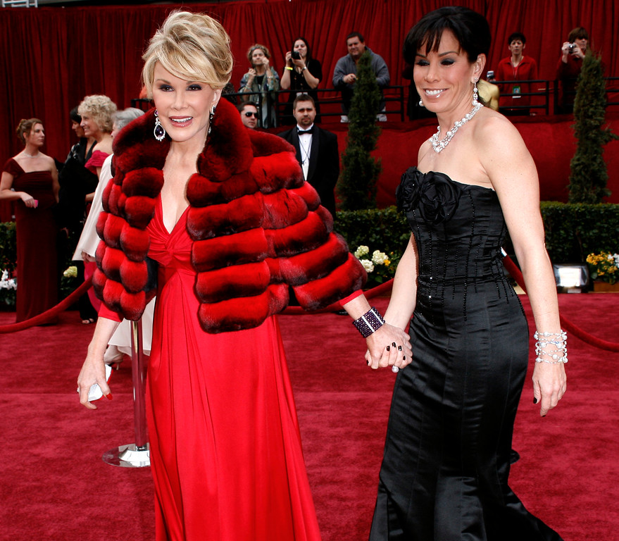 . Joan and Melissa Rivers arrive for the 79th Academy Awards Sunday, Feb. 25, 2007, in Los Angeles. Rivers passed away on September 4, 2014 after suffering respiratory and cardiac arrest during vocal cord surgery on August 28, 2014.