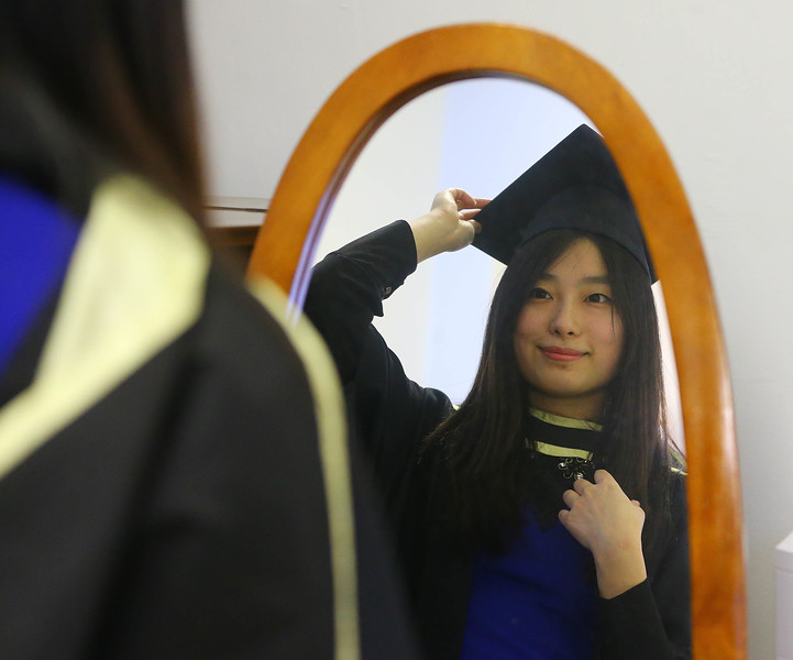 Waterford Institute Of Technology Conferring. Pictured at WIT Waterford Institute Of Technology Conferring are Jia Guo who graduated Master of Business in Internationalisation. Picture: Patrick Browne