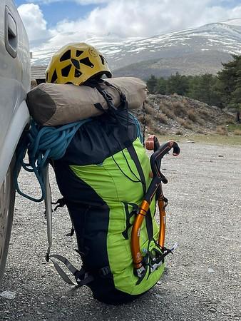Climbing in the Barranco de Alhori 5 - 7 March 2021