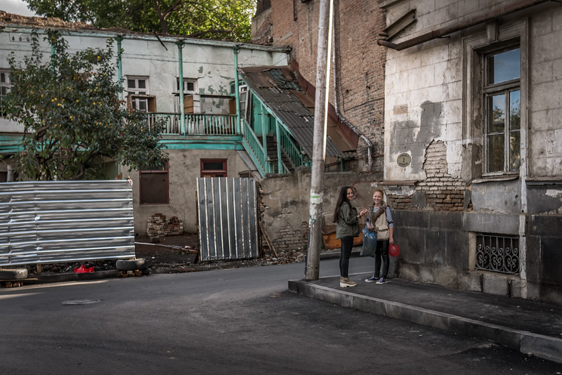 In the historic Old Town, Tbilisi, Georgia.