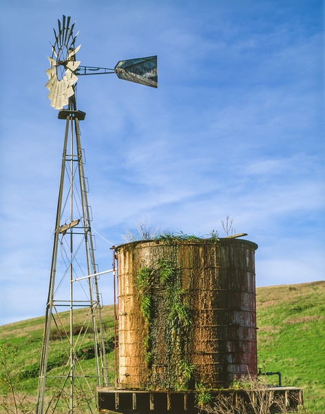 Windmill and water tank, Santa Maria, California, 1995
