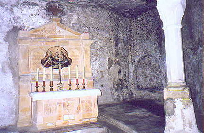 July 01, 1998 - Salzburg, Austria.  St. Peter's catacombs dating back to the 5th century are within the cliffs at the edge of old Salzburg.