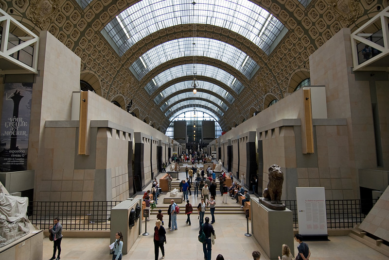 Inside the Musée d'Orsay - Paris, France