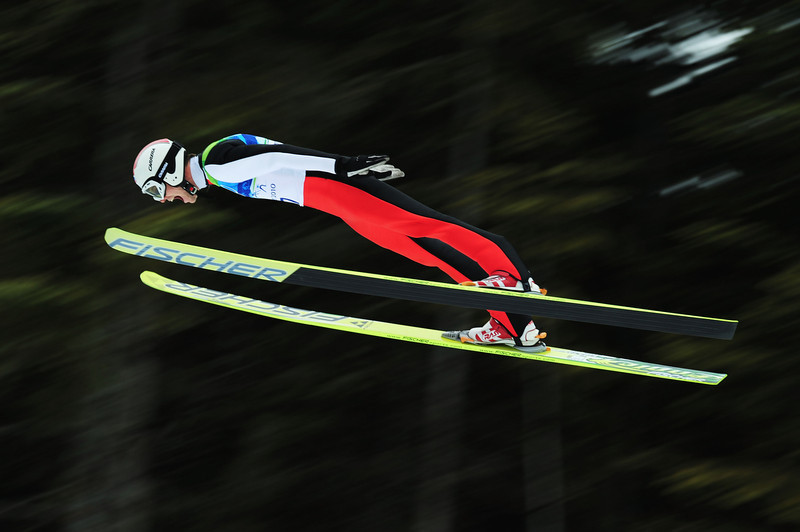 . Tomas Slavik of Czech Republic competes during the Nordic Combined Individual LH/10 km on day 14 of the 2010 Vancouver Winter Olympics at Whistler Olympic Park on February 25, 2010 in Whistler, Canada.  (Photo by Shaun Botterill/Getty Images)