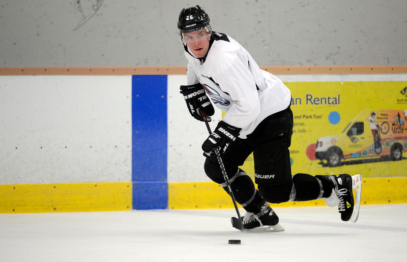 . Colorado Avalanche  C Paul Stastny (26) skates with the puck  during practice Wednesday, January 16, 2013 at Family Sports Center. John Leyba, The Denver Post