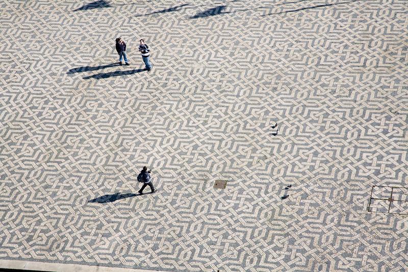People on Praça dos Restauradores, Lisbon, Portugal
