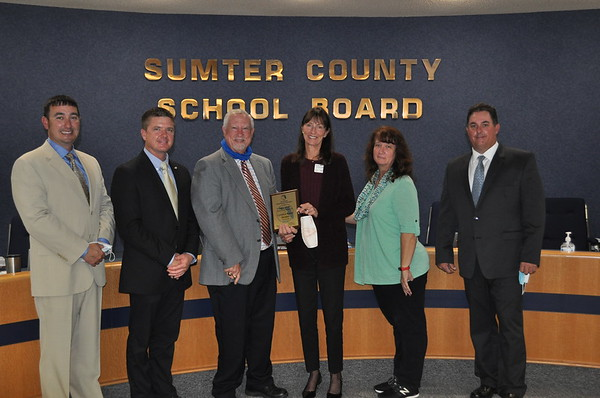 2021 - Presentation recognizing Sally Moss as a Florida School Boards Association Certified Board Member
