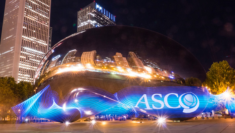 """""""The Bean"""" or Cloud Gate with a little ASCO color..."""