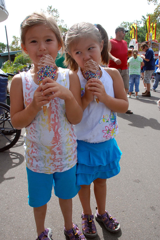 . Two children enjoy ice cream cones with sprinkles during the 2010 Minnesota State Fair. Photo courtesy of the Minnesota State Fair.
