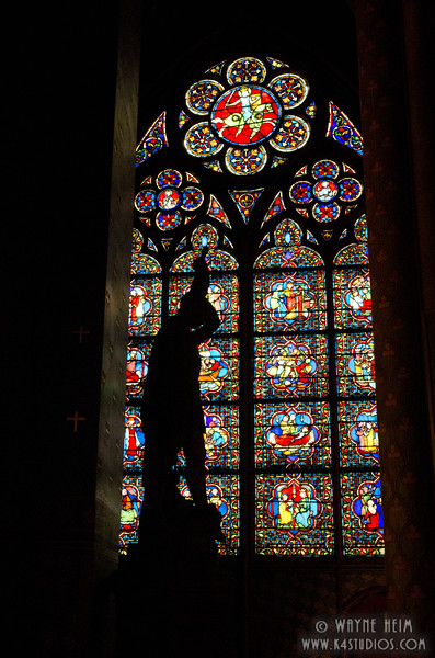 Stained Glass in Notre Dame 4    Photography by Wayne Heim