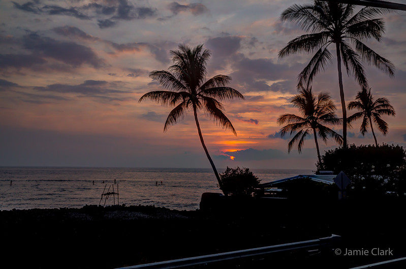Sunset View from the Patio @ Kona Side of the Big Island, Hawaii, April 2016