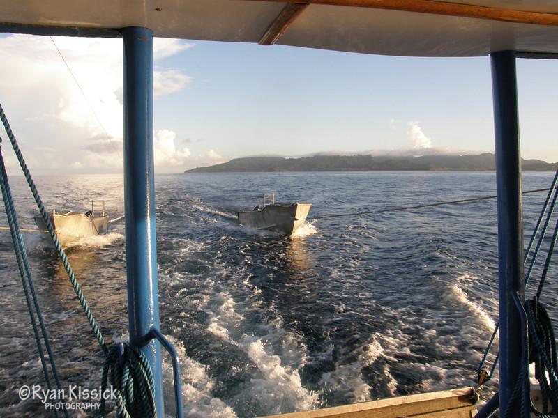 Morning aboard the Bilikiki dive boat