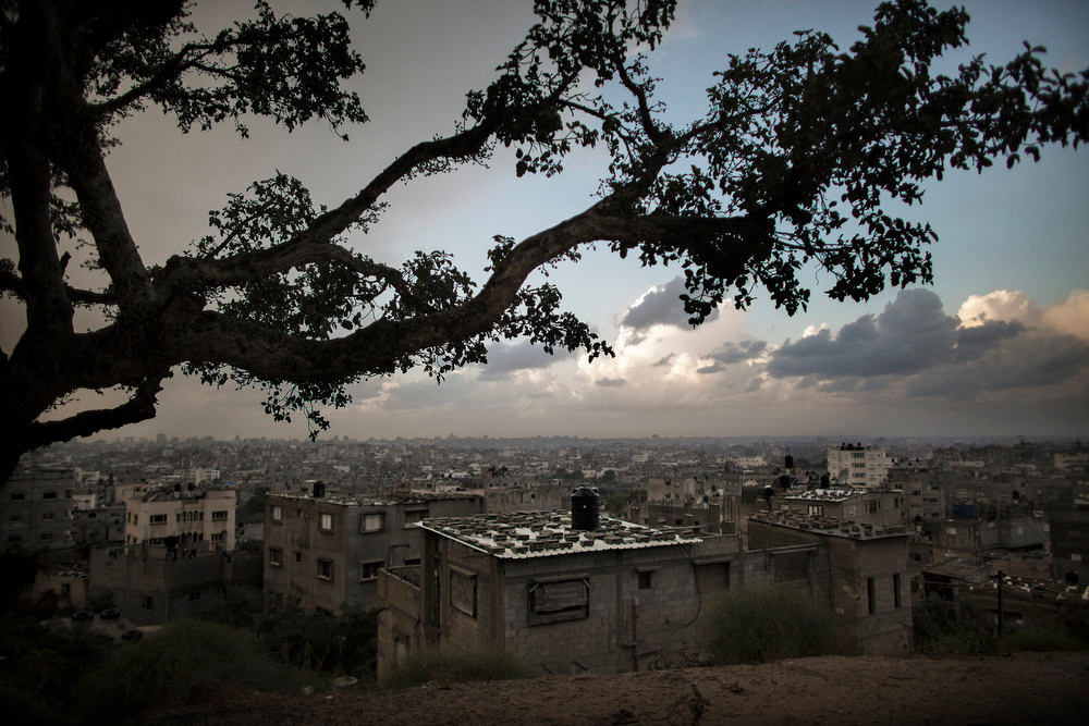 . A picture taken on November 11, 2012 shows the skyline of Gaza City seen from a viewpoint in the al-Shejaya neighbourhood where four Gazans were killed by Israeli fire on November 10. Israeli shelling on  November 10, injured 30 people after militants fired an anti-tank rocket at an Israeli jeep, wounding four soldiers, sources on both sides said. MARCO LONGARI/AFP/Getty Images