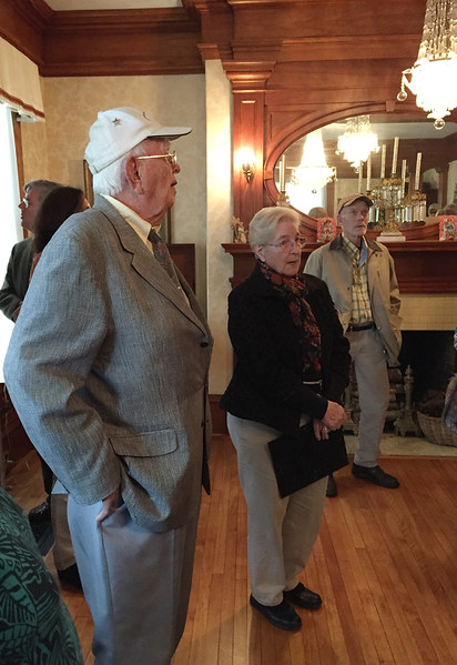 JHS Autumn Outing. October 15, 2017. Bob Chamberlain with Mary Bulger og WHS.
