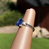 Vintage-Inspired and Contemporary 3.03ct Blue Sapphire Ring (GIA, No-Heat)) 26