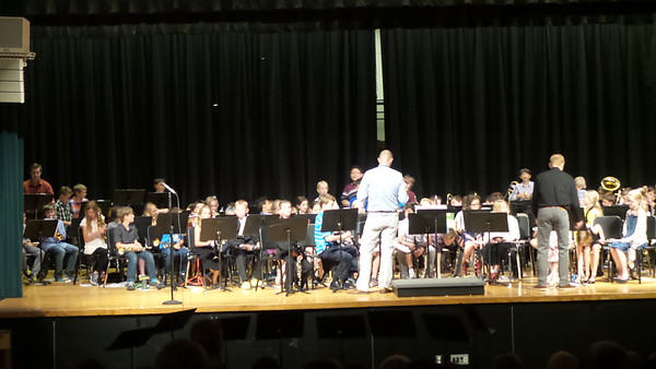 Ben's 5th grade band concert, May 2017