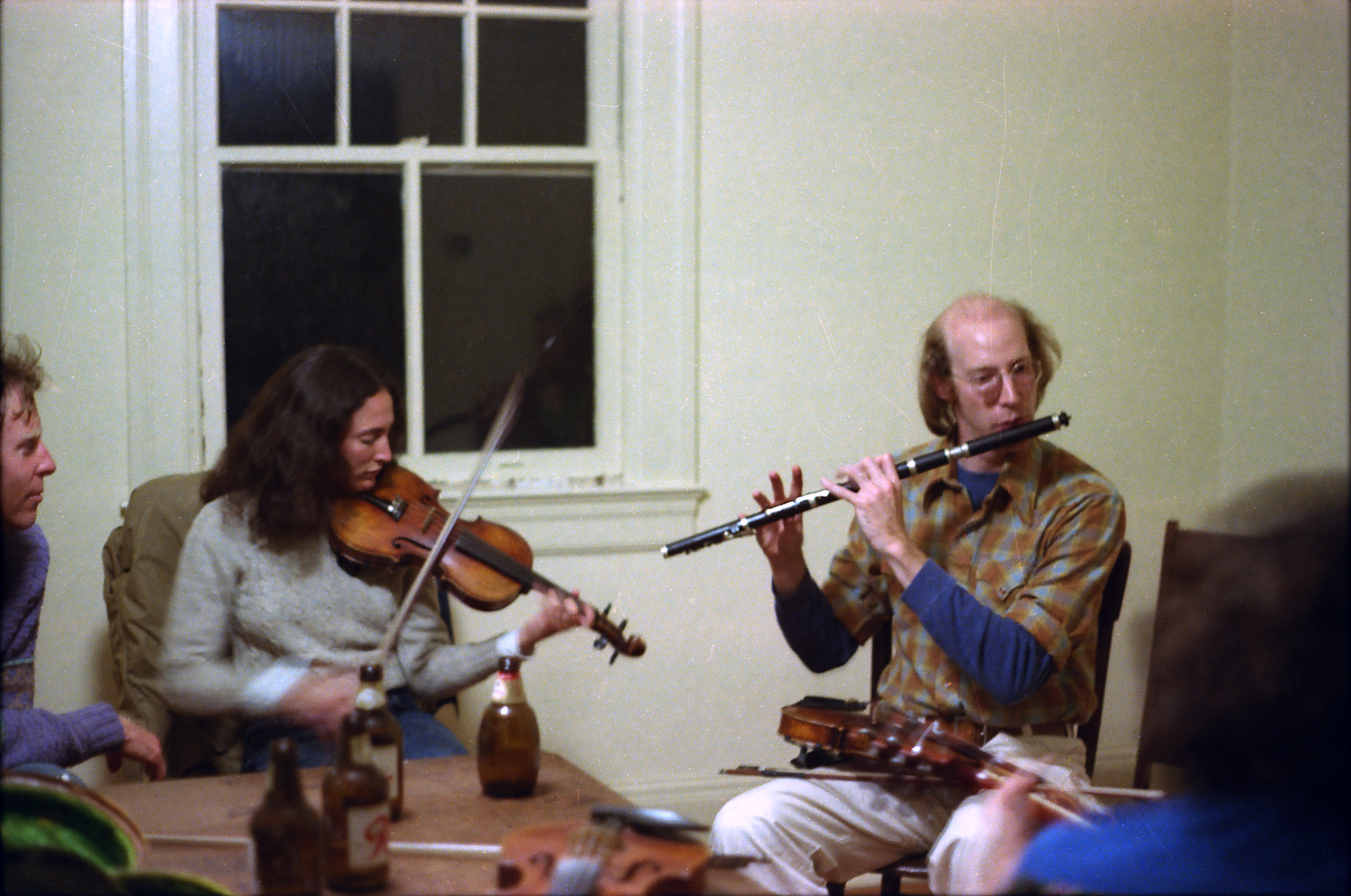 Laurie Riven and Marty Somberg, late night irish session at the bricks