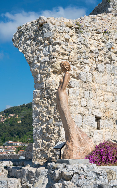 Ancient Church Ruins and Sculpture by Jean-Pierre Richard