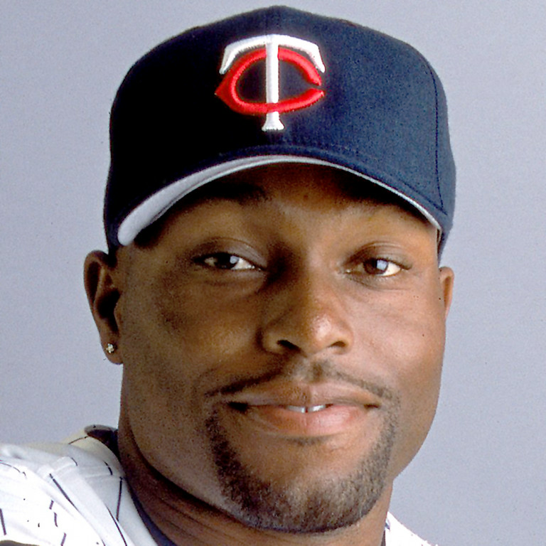 . 26 Feb 2001:  Torii Hunter #48 of the Minnesota Twins poses for a studio portrait during Spring Training at Lee County Stadium in Ft. Myers, Florida.Mandatory Credit: Rick Stewart  /Allsport