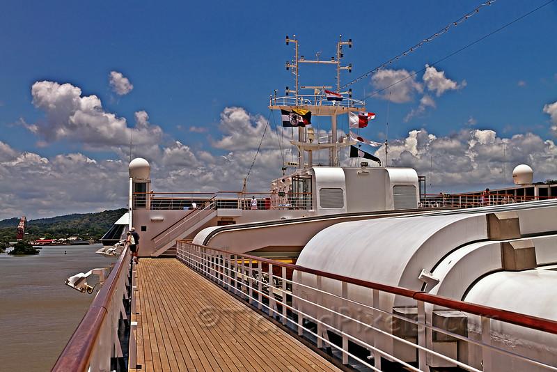 Approaching Gamboa, Panama