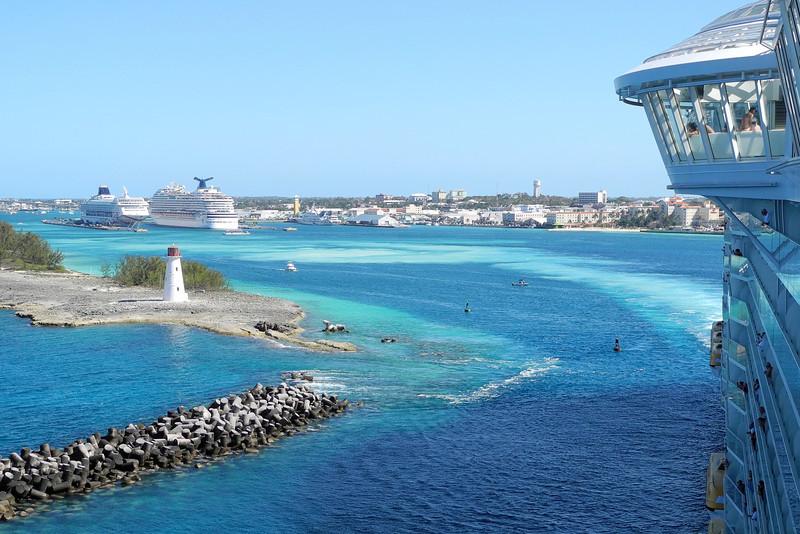 Leaving Nassau harbor bound for St. Thomas