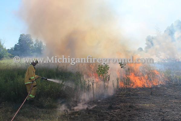 8/8/16 - Leslie field fire, 5250 Jackson Rd