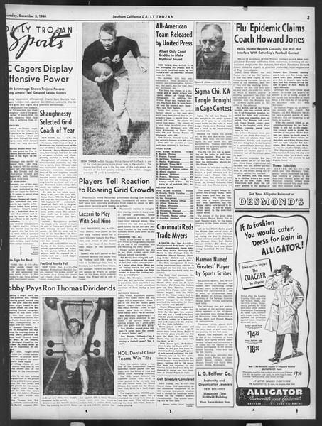 Daily Trojan, Vol. 32, No. 56, December 05, 1940