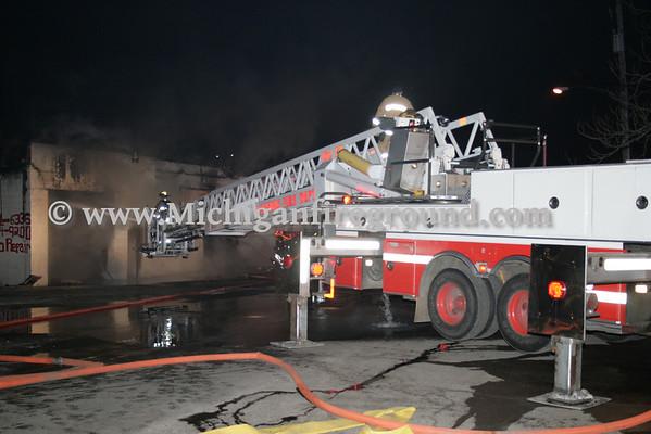 3/7/10 - Lansing 2nd alarm commercial building fire, 412 E Elm