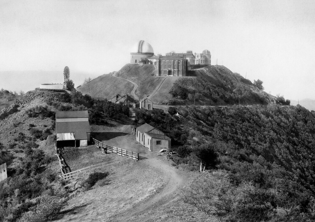 . Lick Observatory on Mount Hamilton, circa 1890. Photo courtesy California Images