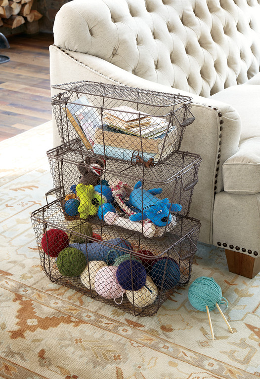 . Nesting wire trunks, set of three from Soft Surroundings, $119.95. Courtesy of Soft Surroundings