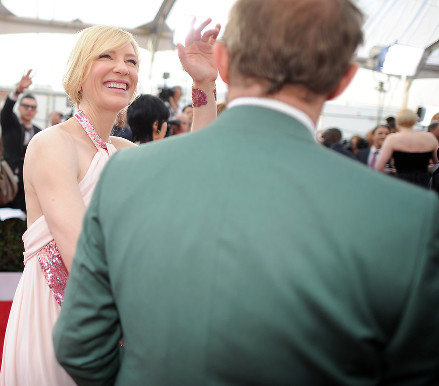 . Cate Blanchett on the red carpet at the 20th Annual Screen Actors Guild Awards  at the Shrine Auditorium in Los Angeles, California on Saturday January 18, 2014 (Photo by Hans Gutknecht / Los Angeles Daily News)