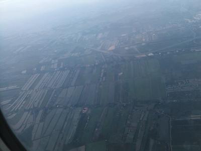 Udsigt fra flyet mellem Bangbok og Koh Samui