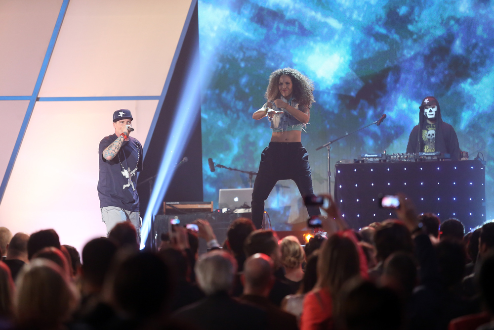 Description of . Vanilla Ice performs onstage at the 3rd Annual Streamy Awards at Hollywood Palladium on February 17, 2013 in Hollywood, California.  (Photo by Frederick M. Brown/Getty Images)