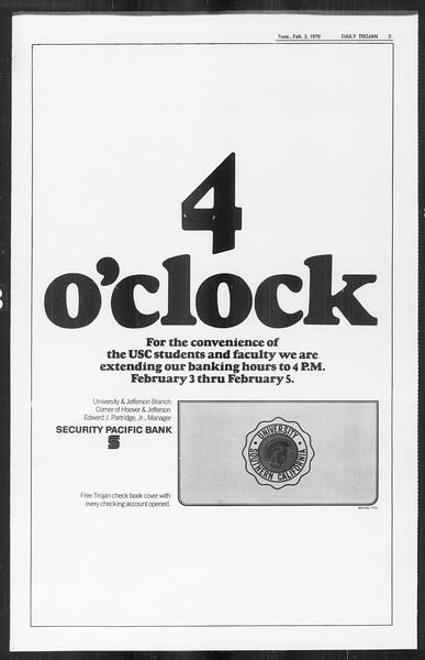 Daily Trojan, Vol. 61, No. 66, February 03, 1970