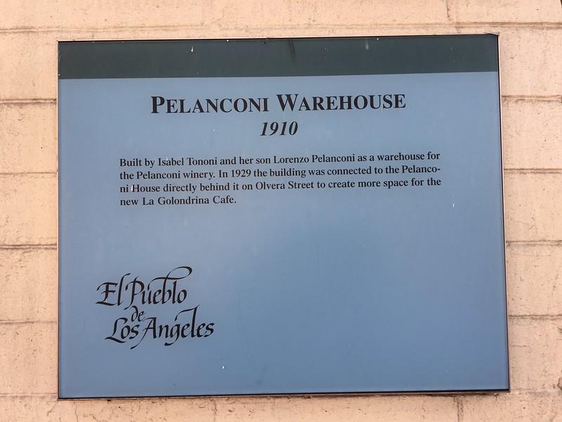 Pelanconi Warehouse 1910