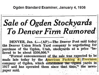 Ogden Union Stockyards Newspapers