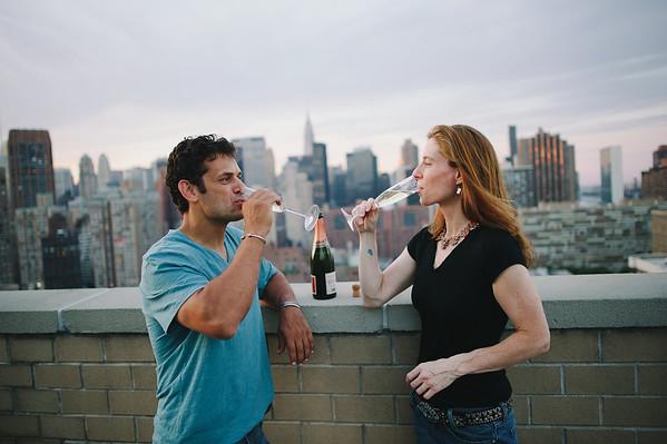 Catherine & Jeff engagement by Ryan Brenizer