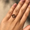 1.96ctw Fancy Golden Brown Hexagon Diamond and Baguette Trilogy Ring 26