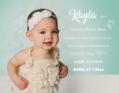 Kayla's 1st Birthday Session