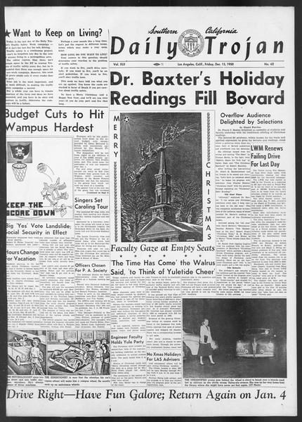 Daily Trojan, Vol. 42, No. 62, December 15, 1950