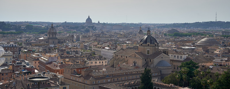 St. Peter's Bascilica, Pantheon and the multiple cathedrals of Rome.